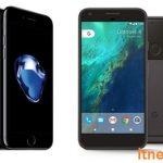مقایسه آیفون ۷ با گوشی های پیکسل ساخت گوگل