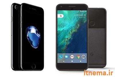 مقایسه آیفون 7 با گوشی های پیکسل ساخت گوگل