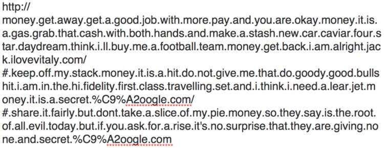 ɢoogle.com با Google.com متفاوت است