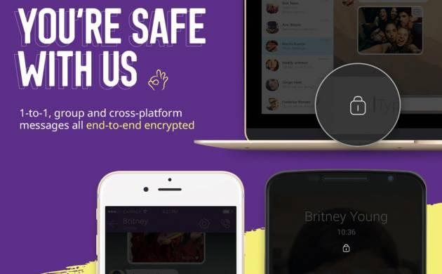پیام رسانی و برقراری تماس در وایبر دوطرفه رمزنگاری می شود
